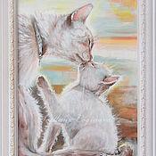 Картины и панно ручной работы. Ярмарка Мастеров - ручная работа Любимый ребенок-картина на шелке. Handmade.
