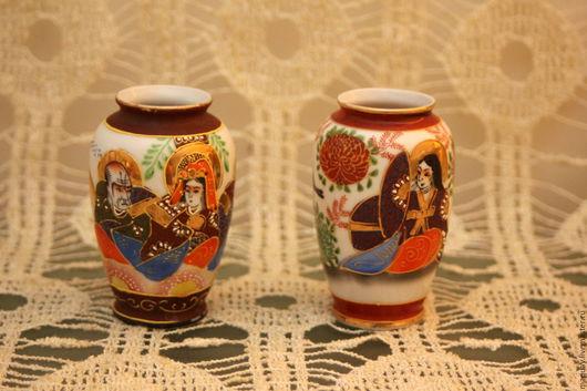 Винтажные предметы интерьера. Ярмарка Мастеров - ручная работа. Купить Две японские миниатюрные вазочки, фарфор винтаж. Handmade. Комбинированный