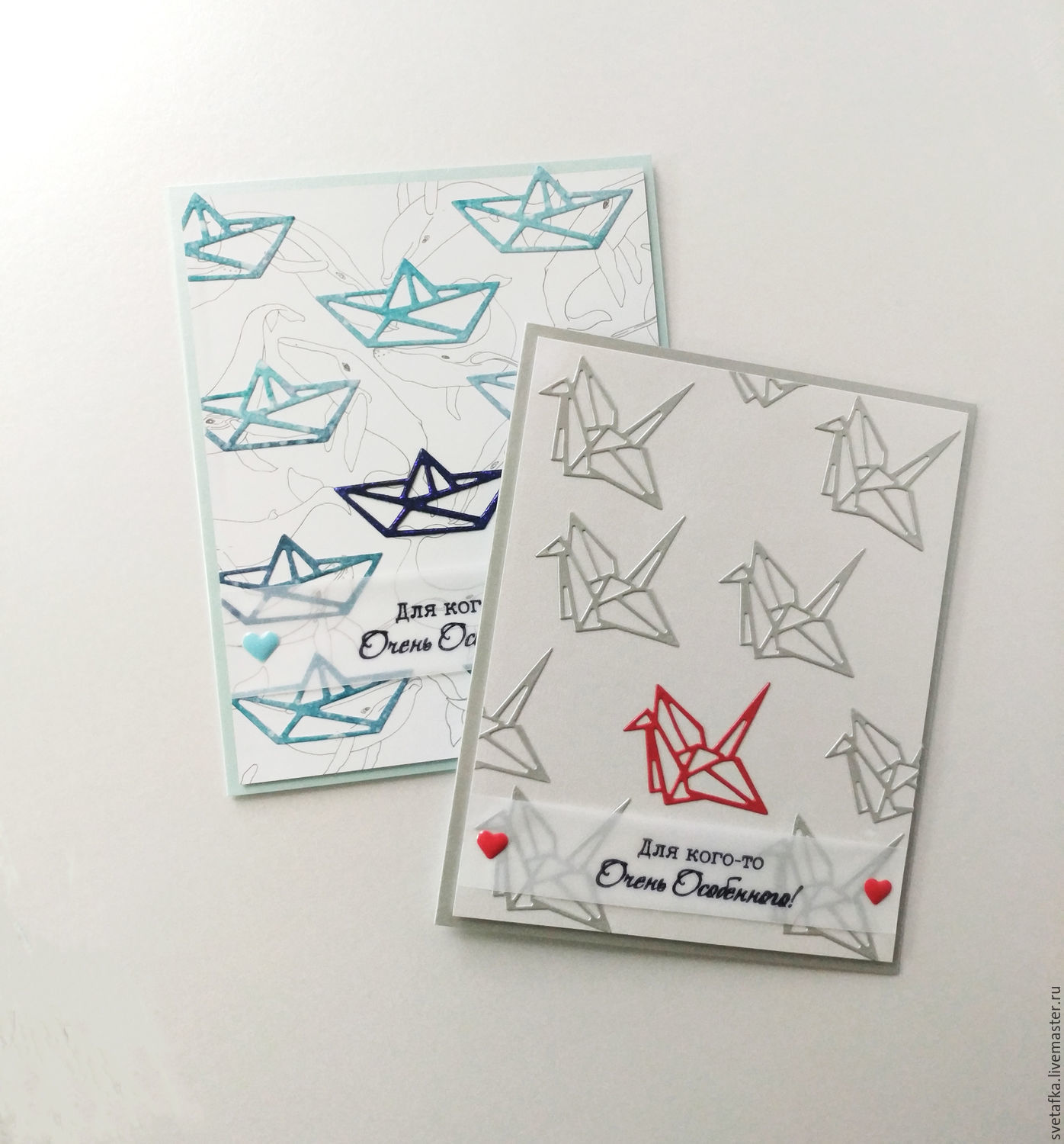Sold, repeat possible!The handmade card, ORIGAMI, Cards, Mytishchi,  Фото №1