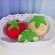 Куклы и игрушки ручной работы. Ярмарка Мастеров - ручная работа Мячики Фрукты-овощи. Handmade.
