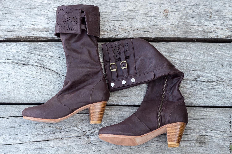 dcc26e5ad Обувь ручной работы. Ярмарка Мастеров - ручная работа. Купить Женские  кожаные сапоги демисезонные .