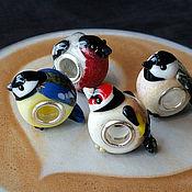 """Украшения ручной работы. Ярмарка Мастеров - ручная работа """"Птички"""" шармы для браслета пандора. Handmade."""
