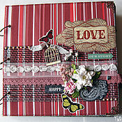 Свадебный салон ручной работы. Ярмарка Мастеров - ручная работа Свадебный альбом LOVE. OUR STORY ручной работы. Handmade.
