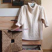 Одежда ручной работы. Ярмарка Мастеров - ручная работа Женский свитер с косами. Handmade.