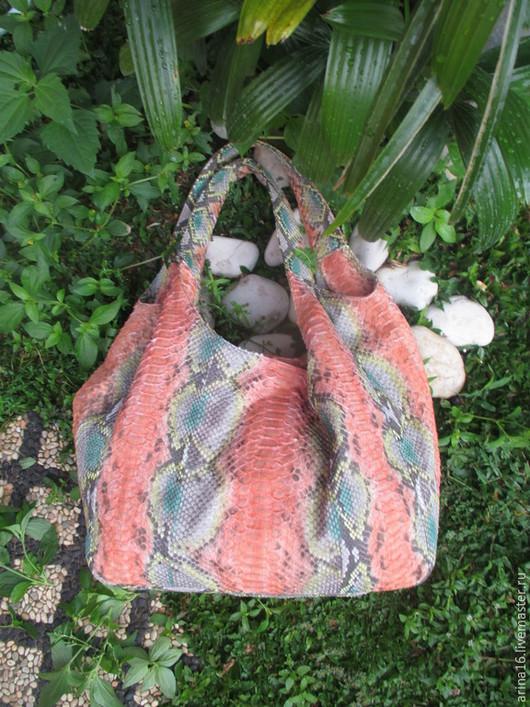 Женские сумки ручной работы. Ярмарка Мастеров - ручная работа. Купить сумка из питона. Handmade. Разноцветный, сумка женская