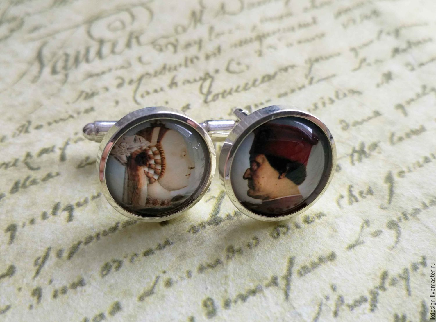 cufflinks are silver plated the duke and duchess (large), Cuff Links, Moscow,  Фото №1