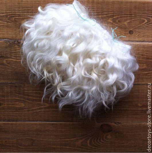 Куклы и игрушки ручной работы. Ярмарка Мастеров - ручная работа. Купить Тресс для кукол натуральный белый. Handmade. Волосы для кукол