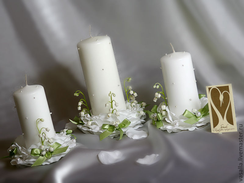 Wedding candle 'lilies', Wedding Candles, Moscow,  Фото №1