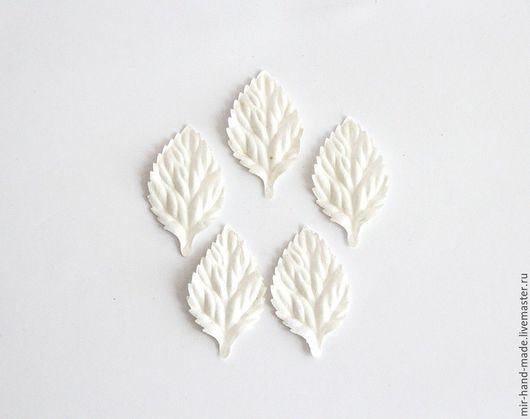 Открытки и скрапбукинг ручной работы. Ярмарка Мастеров - ручная работа. Купить ЛИСТЬЯ БЕЗ СТЕБЕЛЬКОВ - БЕЛЫЕ. Handmade. Белый, листья