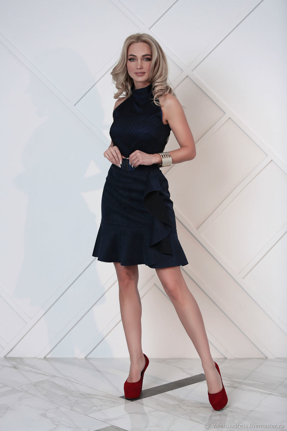 Skirt: the skirt is made of eco-suede with ruffles, Skirts, St. Petersburg,  Фото №1