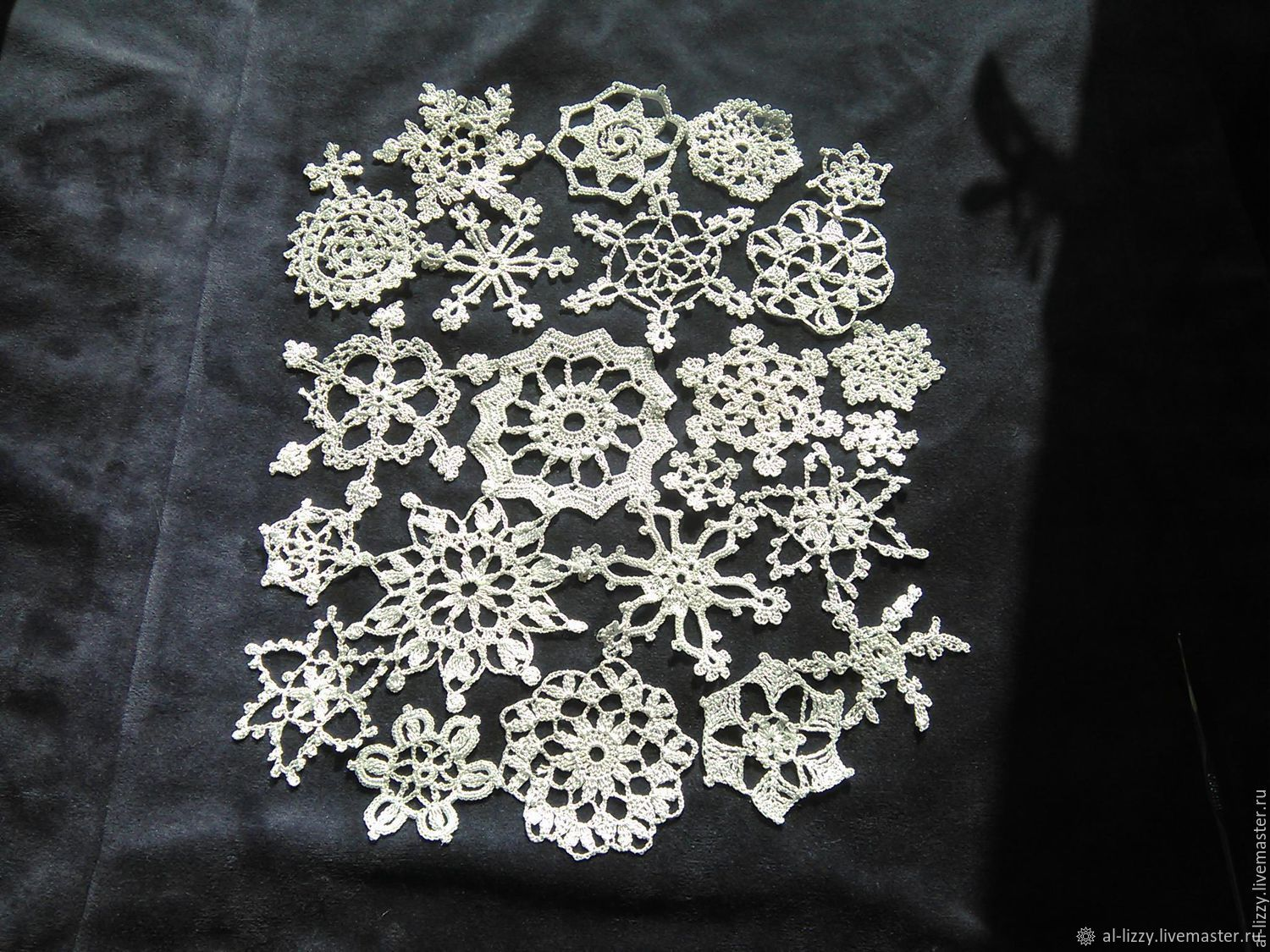 Set of snowflakes 'Blizzard' connected with a hook 23 PCs, Applications, Cherkessk,  Фото №1
