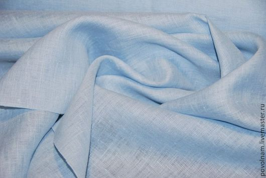 """Шитье ручной работы. Ярмарка Мастеров - ручная работа. Купить Лён 100%""""Пепельно-голубой""""  умягчённый. Handmade. Голубой, ткань для творчества"""