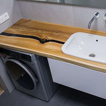 Для дома и интерьера ручной работы. Ярмарка Мастеров - ручная работа Столешница из слэба в ванную. Handmade.