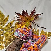 Обувь ручной работы handmade. Livemaster - original item Mules: knitting felting. Handmade.