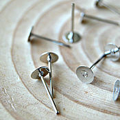 Материалы для творчества handmade. Livemaster - original item Earrings-ear-stud.with a platform for pasting. Handmade.
