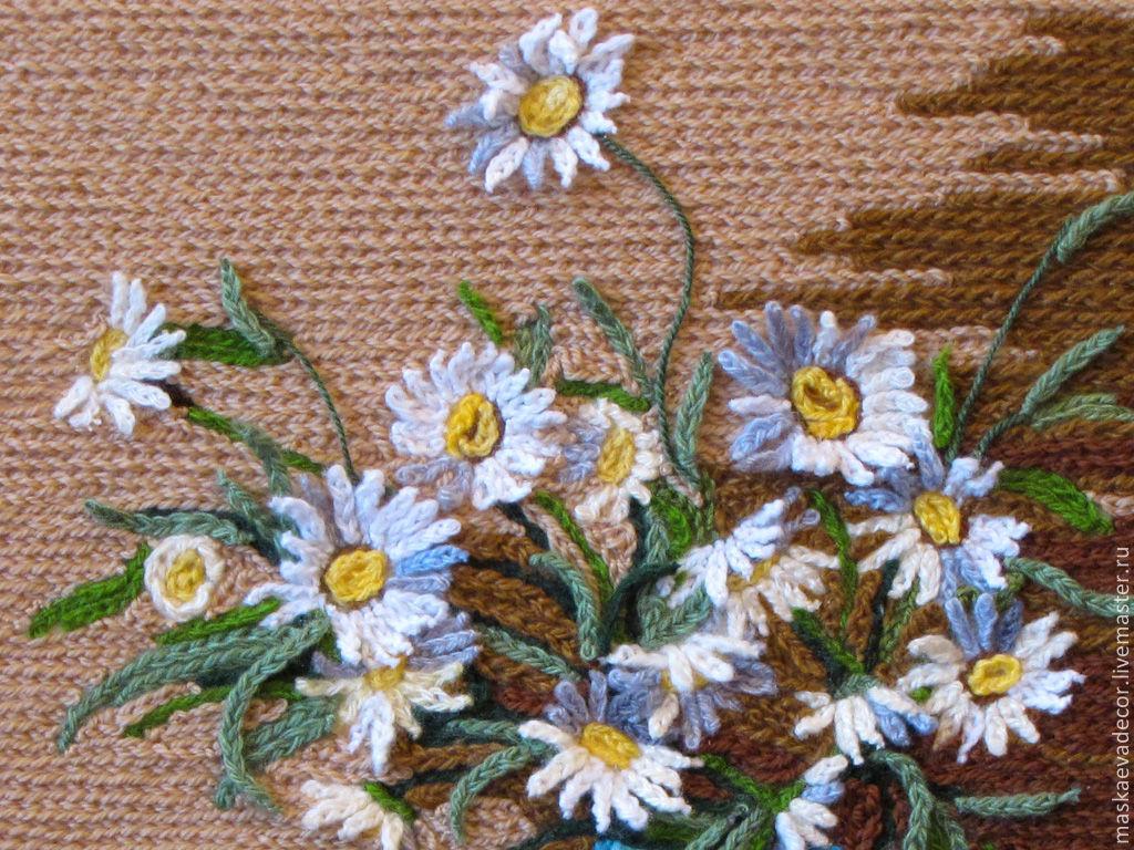 Объемные цветы ручной работы