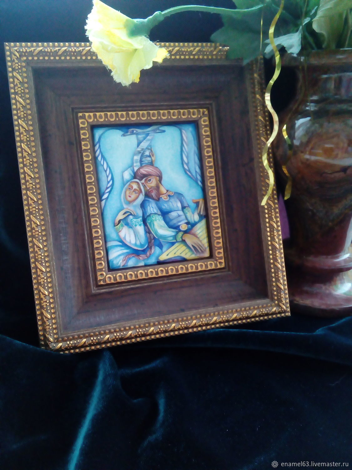 Painting on enamel. Based on the works of K. Vasiliev, Pictures, Tolyatti,  Фото №1