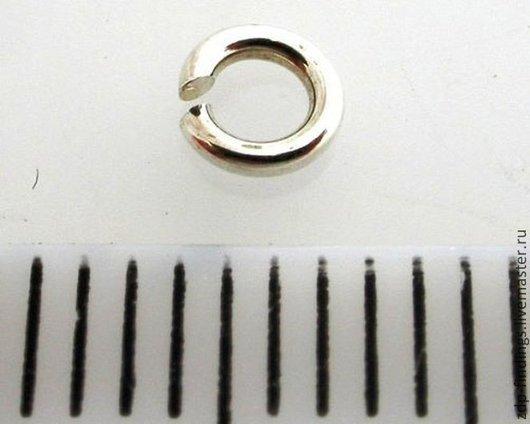 Для украшений ручной работы. Ярмарка Мастеров - ручная работа. Купить Колечки разного диаметра соединительные разъемные серебряные. Handmade.
