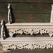Для дома и интерьера ручной работы. Ярмарка Мастеров - ручная работа Полки под иконы (белые с позолотой). Handmade.