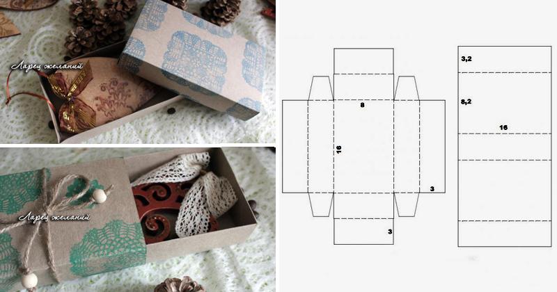 Коробка для подарков своими руками с пошагово