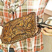 handmade. Livemaster - original item eyeglass case: leather case. Handmade.