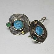 Украшения handmade. Livemaster - original item earrings with larimar. Handmade.