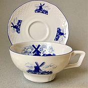 Посуда handmade. Livemaster - original item F017 Pair coffee tea Cup saucer Bareuther Germany. Handmade.