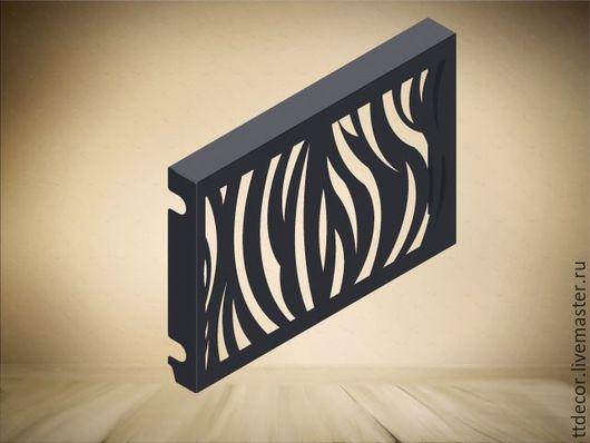 """Мебель ручной работы. Ярмарка Мастеров - ручная работа. Купить Экран для радиатора """"Stripes"""". Handmade. Экран для батареи, резной экран"""