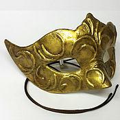 Маски ручной работы. Ярмарка Мастеров - ручная работа Карнавальная маска Коломбина Золото. Handmade.