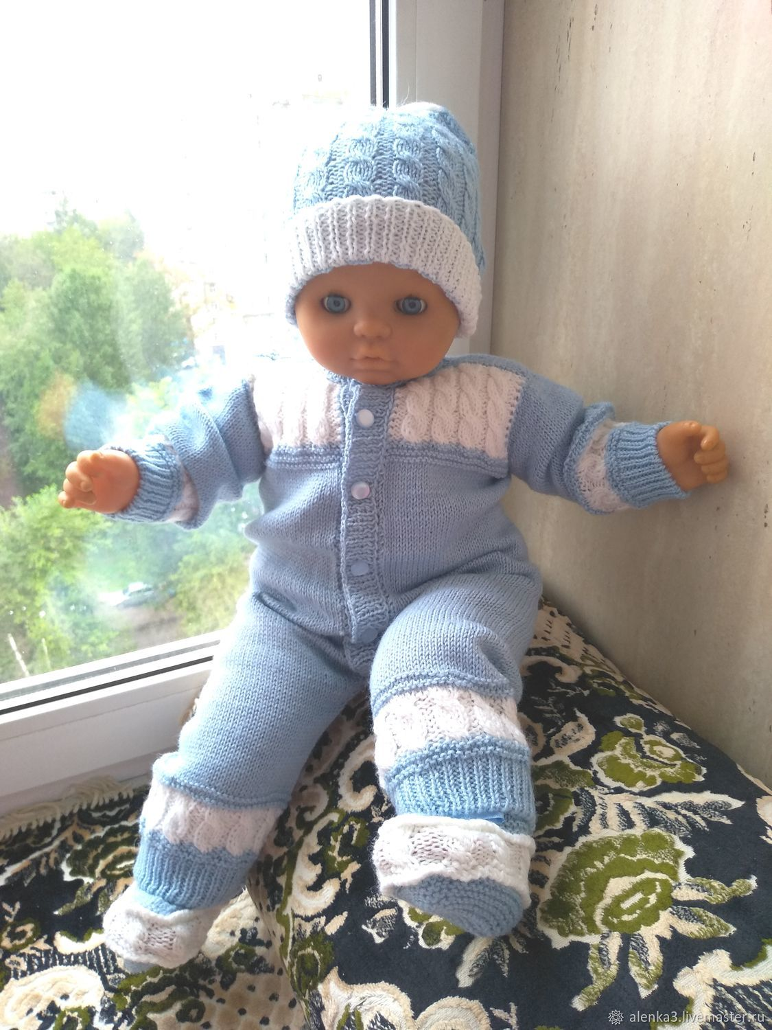 Clothing sets: Knitted Romper hat booties for baby, Collecti clothes, Moscow, Фото №1