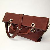Сумки и аксессуары handmade. Livemaster - original item Soft handbag with inflection. Soft clutch bag. Buffalo leather.. Handmade.