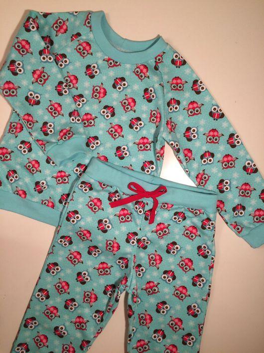 """Одежда для девочек, ручной работы. Ярмарка Мастеров - ручная работа. Купить Пижама """"Совы"""". Handmade. Пижама, пижама тёплая, штаны"""