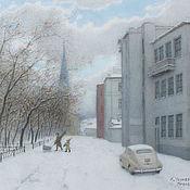 Дизайн и реклама handmade. Livemaster - original item Painting reproduction Moscow, Petroverigsky pereulok. Handmade.