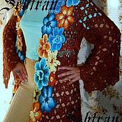 """Одежда ручной работы. Ярмарка Мастеров - ручная работа Кардиган """"Цветочная полянка 2"""", авторская работа. Handmade."""