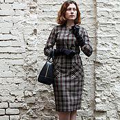 Одежда ручной работы. Ярмарка Мастеров - ручная работа Женское платье в клетку в деловом стиле. Handmade.