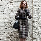 Одежда handmade. Livemaster - original item A dress in a cage in business style. Handmade.