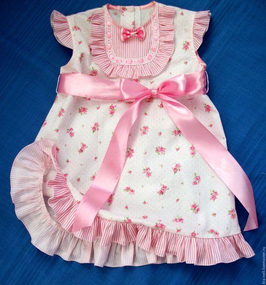 """Одежда для девочек, ручной работы. Ярмарка Мастеров - ручная работа. Купить платье """"Бетси"""". Handmade. Бледно-розовый, платье в подарок"""