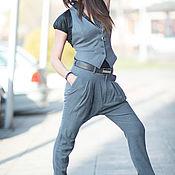 Одежда handmade. Livemaster - original item Business gray suit, vest and pants - SE0642CW. Handmade.