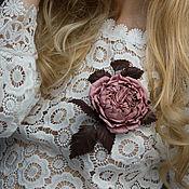 Украшения handmade. Livemaster - original item Brooch-clip leather rose. Decoration leather.. Handmade.