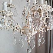Chandeliers handmade. Livemaster - original item Chandelier Ivory. Bronze. Vintage. Provence.. Handmade.