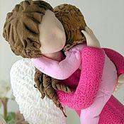 Куклы и игрушки ручной работы. Ярмарка Мастеров - ручная работа Ангел-мама в розовом. Handmade.
