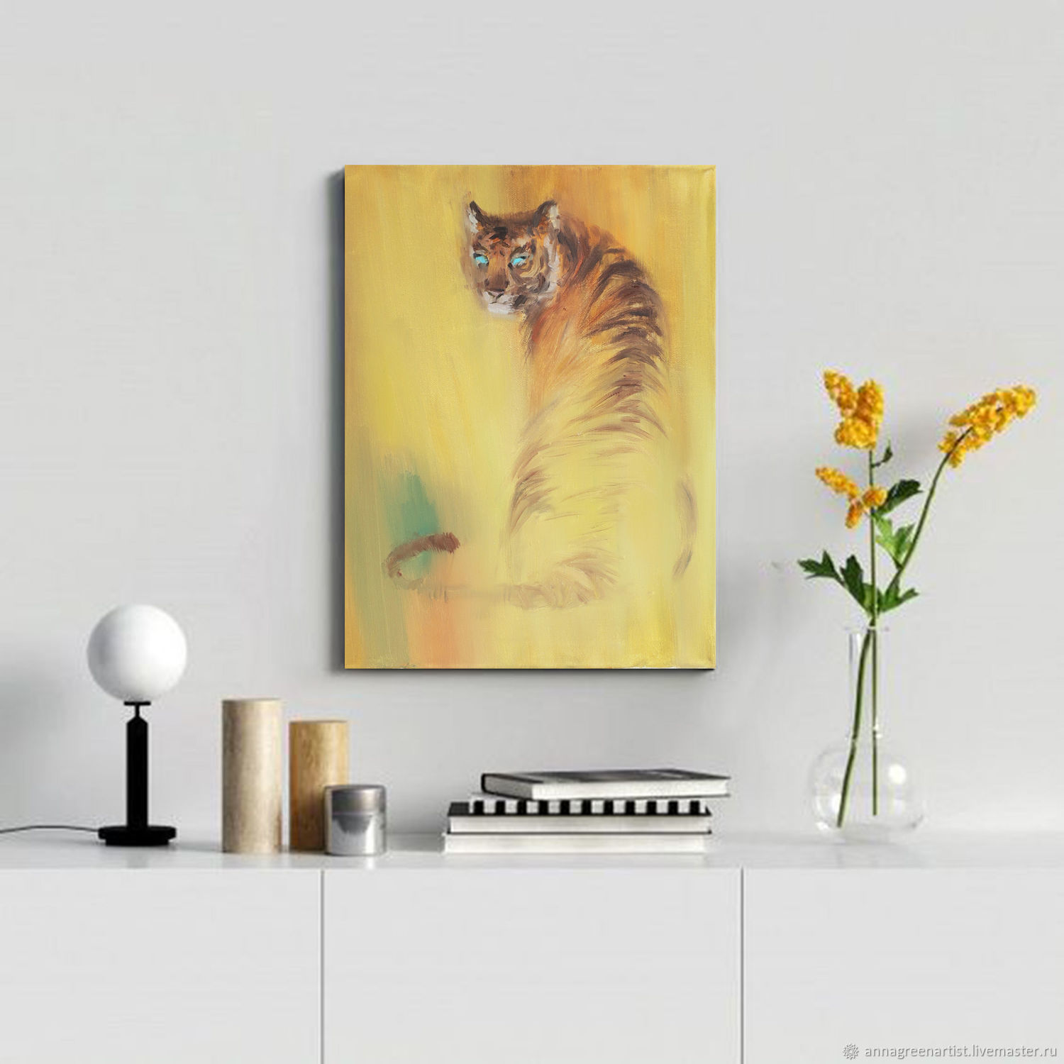 Oil painting tiger, Pictures, Ekaterinburg,  Фото №1