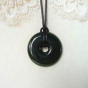 Украшения handmade. Livemaster - original item Copy of Copy of Copy of Round pendant of jade. Handmade.