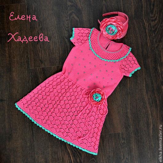 """Одежда для девочек, ручной работы. Ярмарка Мастеров - ручная работа. Купить Платье """"Розово - мятное"""". Handmade. Мятный, платье для девочки"""