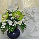 Свадебные цветы ручной работы. Букет цветов из полимернй глины. Надежда. Интернет-магазин Ярмарка Мастеров. Букет невесты