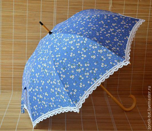 """Зонты ручной работы. Ярмарка Мастеров - ручная работа. Купить Зонт от солнца """" Раз- ромашка, два-ромашка"""". Handmade."""