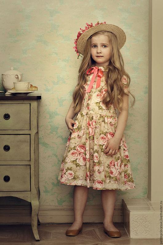 """Одежда для девочек, ручной работы. Ярмарка Мастеров - ручная работа. Купить Платье детское """"Прованс"""". Handmade. Бледно-розовый, Париж"""