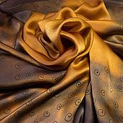 Аксессуары ручной работы. Ярмарка Мастеров - ручная работа Платок батик Autumn gold. Handmade.