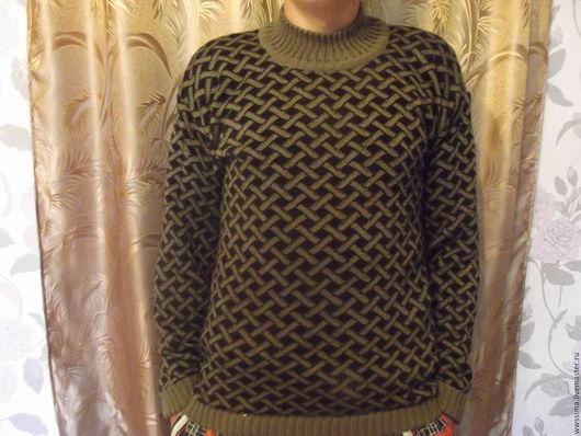 Кофты и свитера ручной работы. Ярмарка Мастеров - ручная работа. Купить свитер. Handmade. Темно-серый, в клеточку, полушерсть