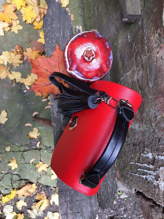 """Женские сумки ручной работы. Ярмарка Мастеров - ручная работа. Купить Mi-mi """"Красное и чёрное"""". Handmade. Сумка"""